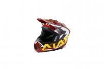 Шлем (кроссовый) Ataki JK801 Rampage коричневый/желтый глянцевый XL