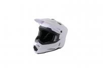 Шлем (кроссовый) Ataki JK801 Solid белый глянцевый XL