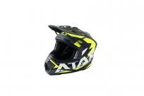 Шлем (кроссовый) Ataki JK801 Rampage серый/желтый матовый XL