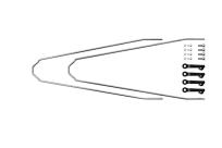 Комплект U-стоек для VELO55 CROSS