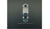 """Круизер деревянный RIDEX 28.5""""X8.25"""", ABEC-5, Tropic 1/2"""