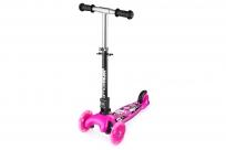 Трехколесный самокат со складной ручкой и 3 светящимися колесами Small Rider Randy Flash (розовый)