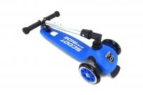 Австрийские безопасные самокаты со складной ручкой Scoot&Ride HighwayKick 3 (синий)
