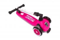 Австрийские безопасные самокаты со складной ручкой Scoot&Ride HighwayKick 3 (розовый)