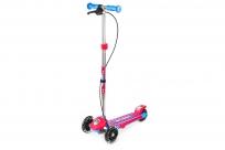 Трехколесный самокат Small Rider Galaxy (светящиеся колеса и ручной тормоз) (CZ) (сине-красный)