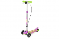 Трехколесный самокат Small Rider Galaxy (светящиеся колеса и ручной тормоз) (CZ) (зелено-фиолетовый)
