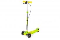 Трехколесный самокат Small Rider Galaxy (светящиеся колеса и ручной тормоз) (CZ) (зелено-желтый)