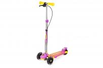 Трехколесный самокат Small Rider Galaxy (светящиеся колеса и ручной тормоз) (CZ) (желто-фиолетовый)