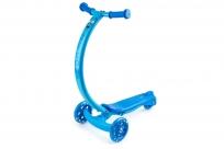 Самокат с изогнутой ручкой и светящимися колесами Zycom Zipster (Зайком Зипстер) (синий)