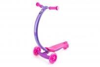 Самокат с изогнутой ручкой и светящимися колесами Zycom Zipster (Зайком Зипстер) (розово-фиолетовый)