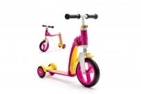 Трехколесный самокат-беговел (трансформер) Scoot&Ride Highway Baby Plus (желто-розовый)