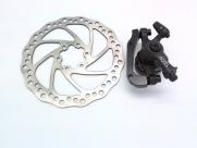 Tektro тормоз дисковый мех. aquila с ротором 203мм, чёрный, колодки: металлокерамика, вес 206г без ротора