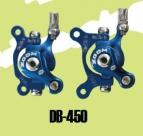 Zoom тормоз дисковый мех. db-450 передний с ротором d:160мм, чёрный